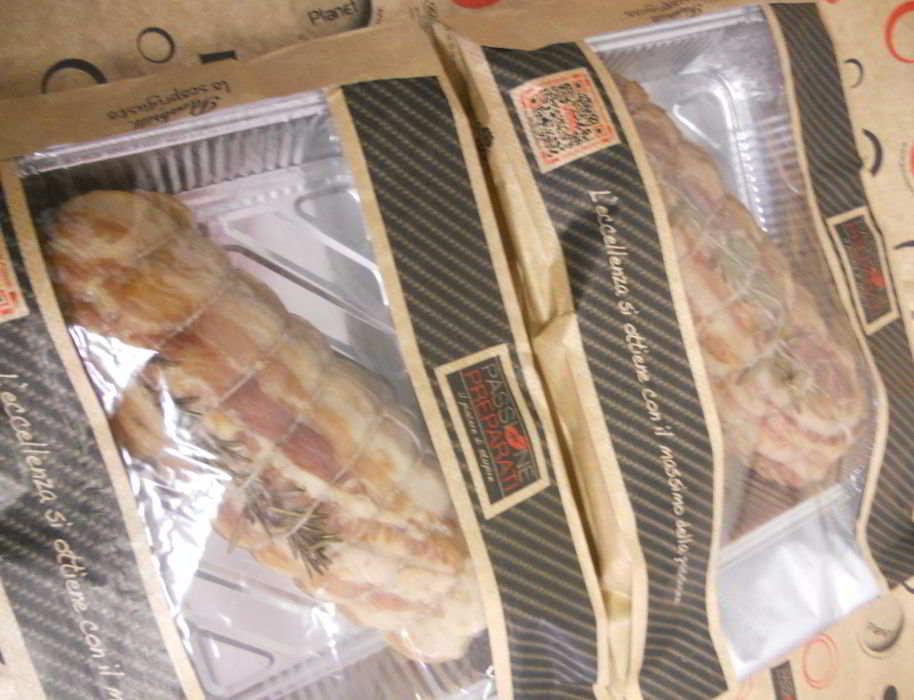 Arrosti cotti da Gianni Macelàr confezionati nel sacchetto scoprigusto