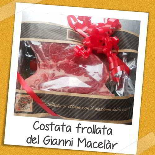 Costata frollata del Gianni Macelàr in confezione regalo, scoprigusto con fiocco