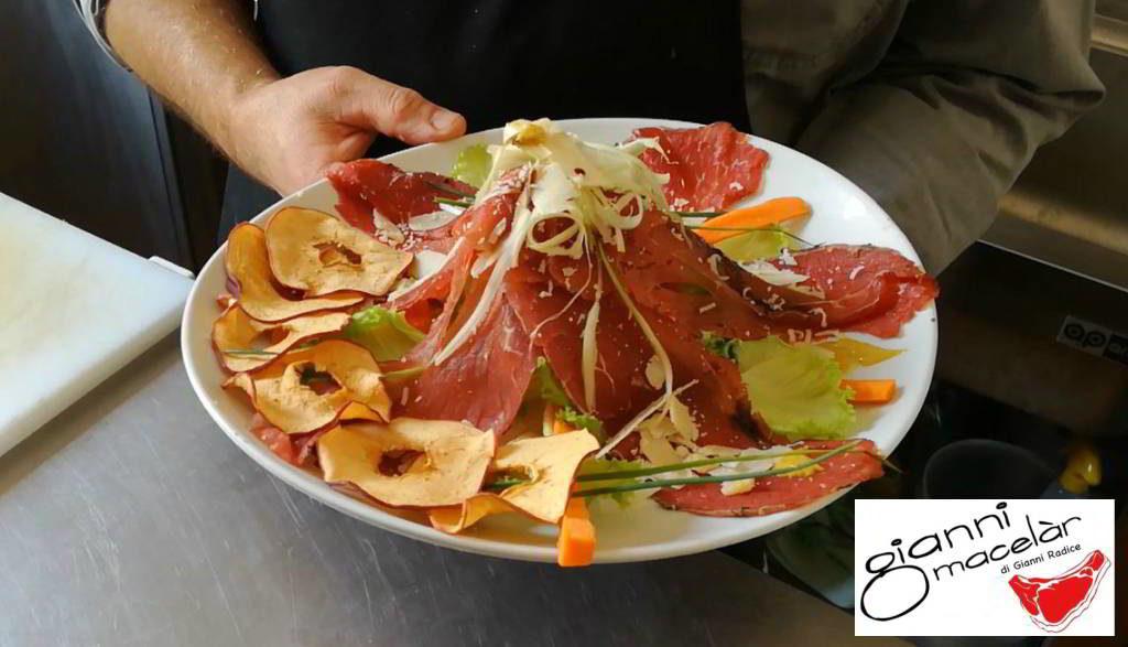 Vulcano di carne salada alla Gianni Macelàr