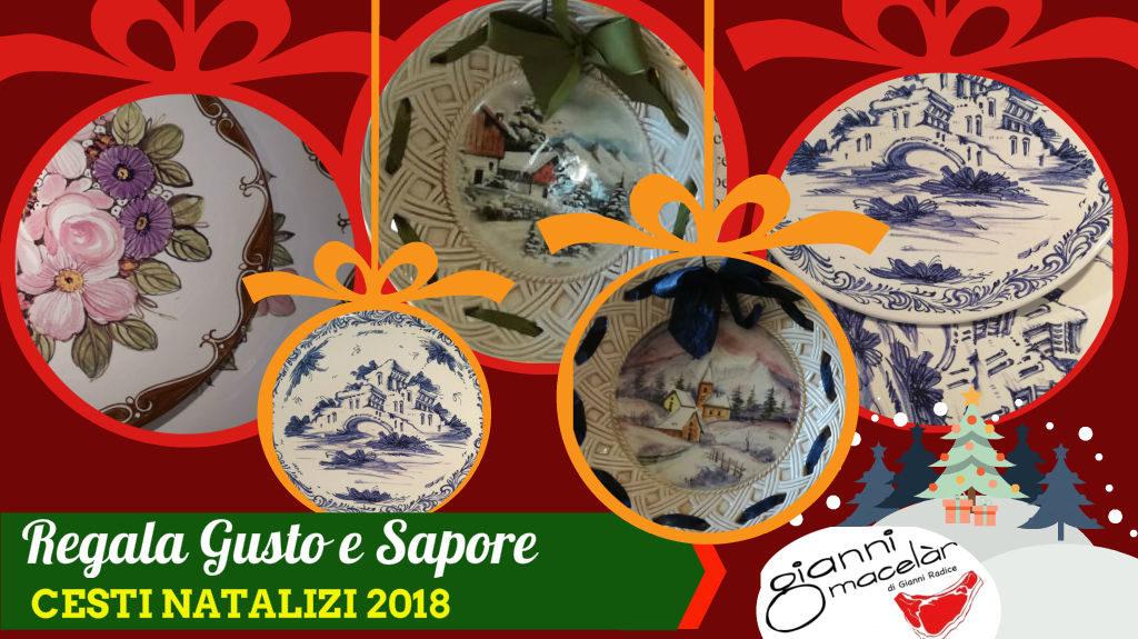 Piatti Natalizi di ceramica dipinti a mano per cesti natalizi
