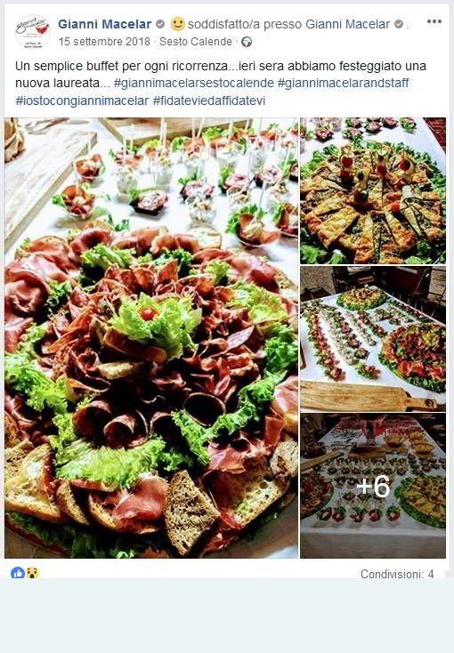 Buffet festa di Laurea