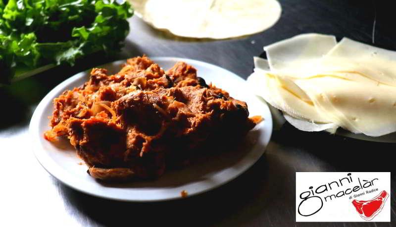 Ingredienti per preparare leTortillas con Pulled Pork e Cipolle Caramellate