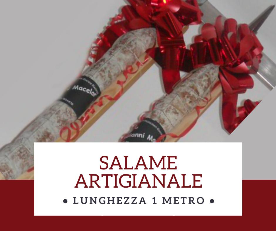 Salame artigianale Gianni Macelàr lunghezza 1 metro