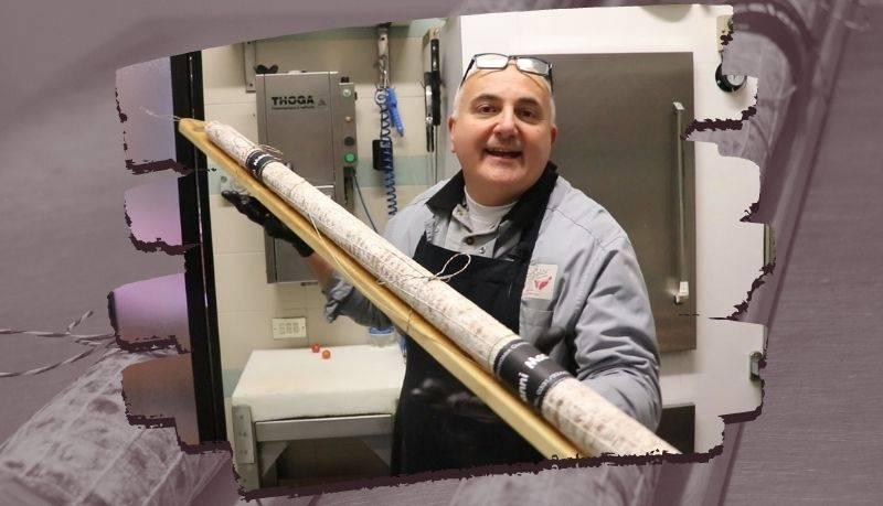 Salame artigianale Gianni Macelàr lugno 1 metro e 60 centimetri