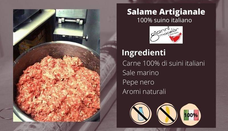 Salame artigianale: preparazione impasto